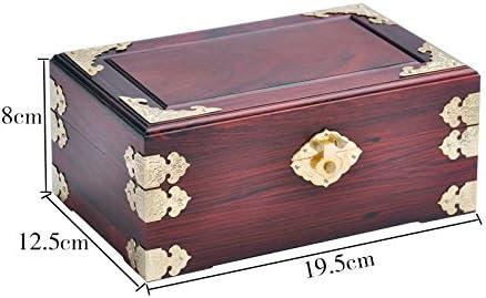GFEI Rosewood, chino de madera maciza, joyas antiguas cajas de ...