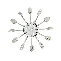 Deco 79 66986 Gorgeous Metal Kitchen Wall Clock, 15 D