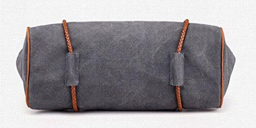 Shopping Capacity Handbag Top For And hanle Bag Totes Trip Women For School Bags Canvas Handbag Large Blue Work Vintage wOq1RASgx
