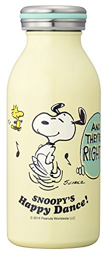 (Snoopy Happy Dance Insulated Stainless Steel Bottle 350ml Ivory SBD-350)