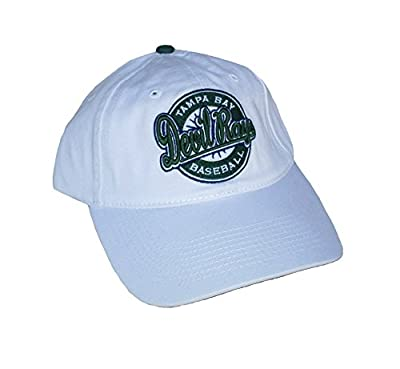 Tampa Bay Devil Rays Baseball Adjustable One Size Fits All White Hat Cap - OSFA