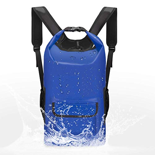 Yifei Waterproof Dry Bag Dry Backpack Dry Sack Lightweight Water Sport Hiking Dry Backpack Shoulder Straps -