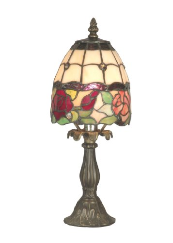 Dale Tiffany TA70711 Enid Table Lamp, Antique Brass and Art Glass Shade ()
