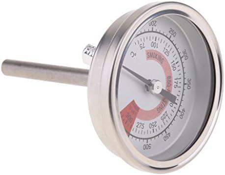 Sharplace Grillthermometer für Ihren Grillwagen oder Räucherofen Inkl. Flügelmutter zur Befestigung