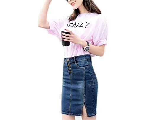 7XL Plus Size Denim Skirt NEW Elegant Women Slim Mini Denim Skirt Simple Sexy Side Split Slim Jeans Women Skirts Pencil Skirt PC (Yakima Wa Stores)