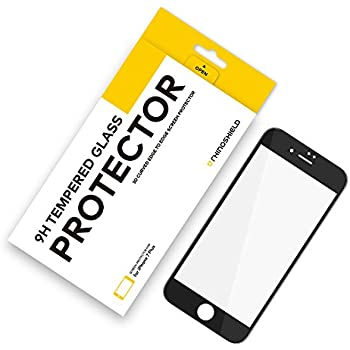 RhinoShield iPhone 7 Plus [Not Compatible with iPhone 8 Plus] 9H 3D Curved Edge to Edge Tempered Glass Screen Protector - [9H Hardness] [Anti-FingerPrint] Perfect Transparency and Premium Feel - Black