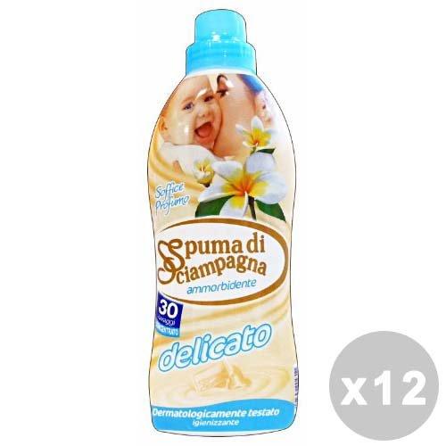 Spuma di Sciampagna Set 12 Ammorbidente concentrato 30 lavaggi Delicato