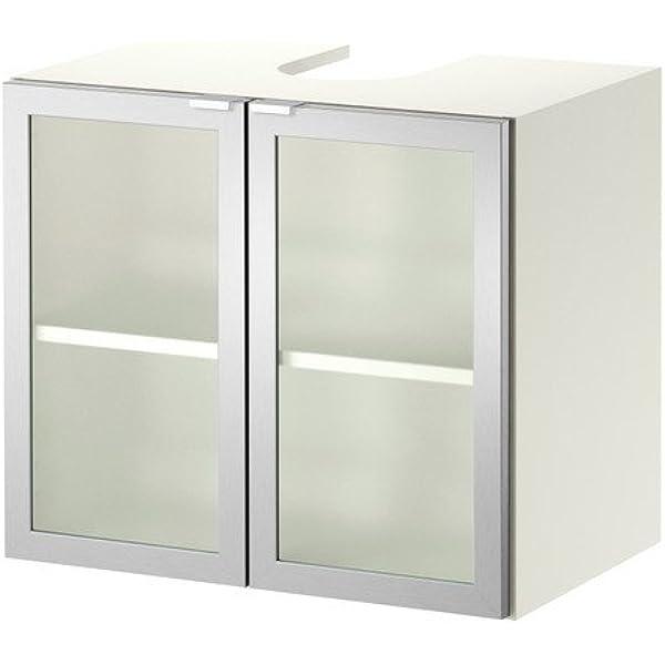 IKEA LILLÅNGEN - Mueble bajo Lavabo w 2 puertas, blanco, aluminio ...