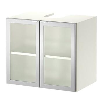 ikea lillngen mueble bajo lavabo w puertas blanco aluminio xx cm
