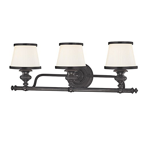 Milton 3-Light Vanity Light - Old Bronze Finish with Opal Glossy Glass Shade