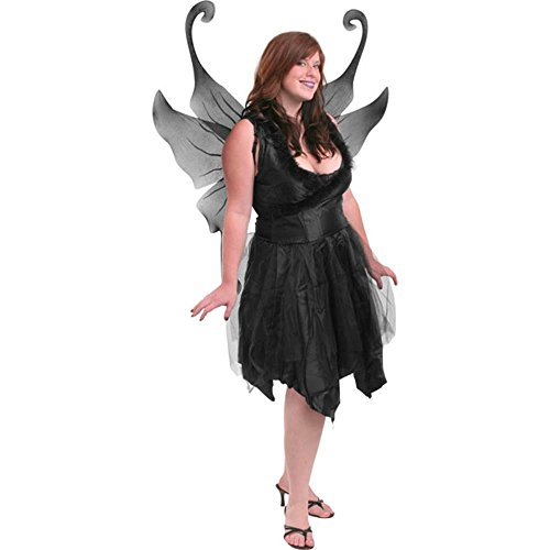 [Plus Size Sexy Dark Fairy Costume] (Dark Fairy Wings Costume)