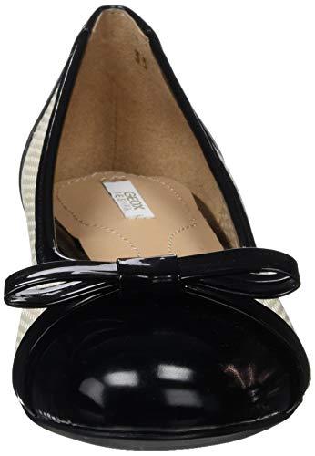 Bailarinas C8616 D skin 02 Beige black Para Mujer Wistrey Geox nf6Fq