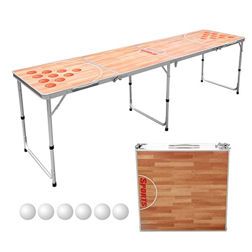 Portable Tailgate Table (Sports Festival 8-Foot Portable Beer Pong / Tailgate Tables (Basketball Court))