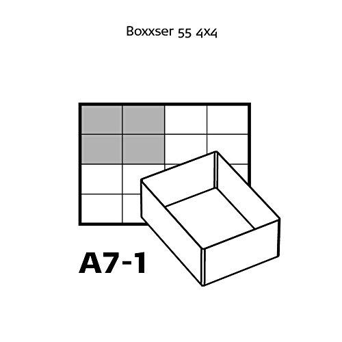 transparente Raaco 136471 4 compartimentos de A7-1 tipo 55 A Inserto para organizador