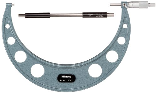Mitutoyo 103-224 Outside Micrometer, Baked-enamel Finish,...
