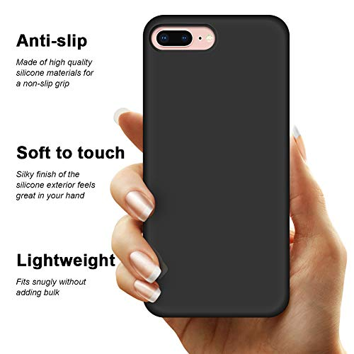 Anuck Case for iPhone 8 Plus Case, for iPhone 7 Plus Case 5.5 inch, Soft Silicone Gel Rubber Bumper Case Microfiber…