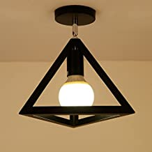 CGJDZMD Metal Retro Country Style Hanging Ceiling Lamp Pendent Light E27 1-Light Vintage Industrial Light Shade Perfect for Coffee/ Study/ Dining room /Kitchen ( Color : Black , Size : Style A )