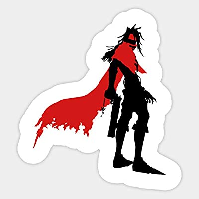 Vincent Valentine Silhouette - Sticker Graphic - Car Vinyl Sticker Decal Bumper Sticker for Auto Cars Trucks: Toys & Games