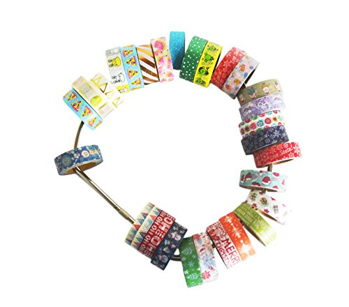 Washi Tape Storage Ring by Tanpopo Art | Durable Stainless Steel Ring Storage for Easy Organizing of Tapes| 8 Inches Diameter [Ring only, Tapes not included] ()