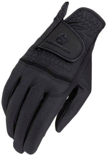 Gloves Horse Riding (Heritage Premier Show Gloves, Size 8, Black)