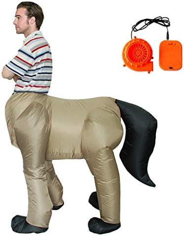 ハロウィンコスチューム大人男性ケンタウルスインフレータブル馬体人間の顔コスプレファンシーパーティードレス