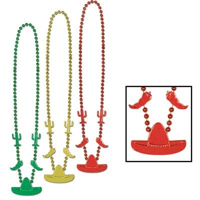 Fiesta Beads (asstd gold, green, red) (Chili Pepper Bead)