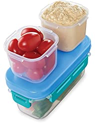 Rubbermaid LunchBlox Leak-Proof Snack Pack Lunch Containers, Blue
