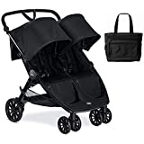 Britax B-Lively Double Stroller with Diaper Bag - Raven