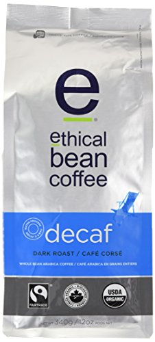 Just Bean Coffee Decaf, Dark Roast, Whole Bean, 12-Ounce Bag