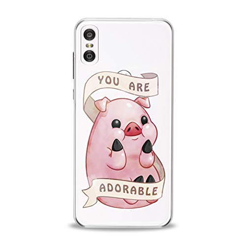 Lex Altern TPU Case for Motorola Moto G7 Power One P30 P40 Note G6 Z4 Gift Clear Creative Cute Pig Silicone Funny Cover Print Protective Lightweight Flexible Soft Pink Stylish Smooth Top Theme New