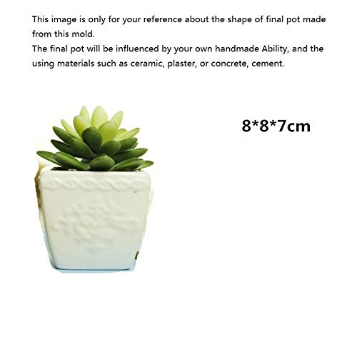 Concrete Planter Best Quality - Clay Molds - Ceramic Clay Making Tool Flower Pot Making Silicone Concrete Planter Mold DIY Cement Flower Pot Mould - by GTIN - 1 PCs