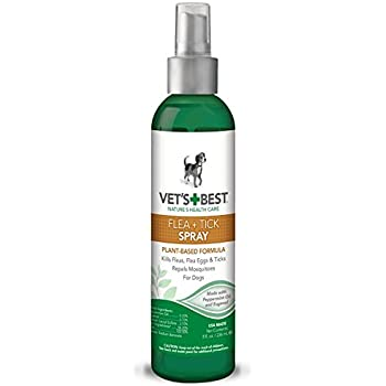 Vet's Best Natural Flea and Tick Spray, 8 oz, USA Made (Packaging May Vary)