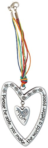Heart Car Charm - Cathedral Art KT602 Mom Please Be Safe Heart Car Charm, 7-Inch