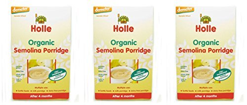 (3 PACK) - Holle - Dem Cereal Semolina Porridge | 250g | 3 PACK BUNDLE by HOLLE by HOLLE