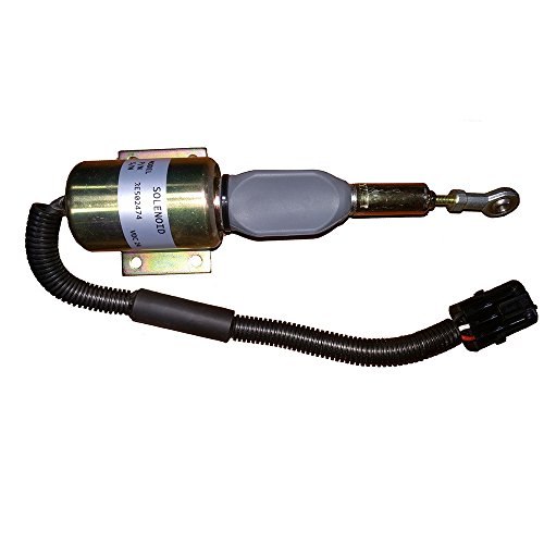 RE516083-12V Fuel Shutoff Solenoid for Excavator 120 160LC 200LC 230LC 230LCR 270LC - John Deere Excavator Parts