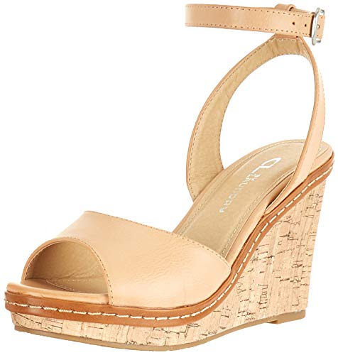 CL by Chinese Laundry Women's Booming Wedge Sandal, Dark Nude Burnished, 7.5 M US