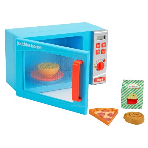 Just Like Home Toy Appliances : Just like home talking microwave oven blue garden
