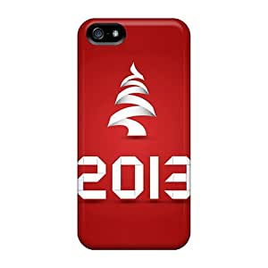 Excellent Design 2013 New Year Red Case Cover For Iphone 5/5s