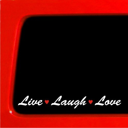Live Laugh Love sticker car vinyl decal hello cute girl lips kiss kitty