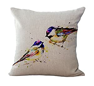 Love birds Throw Pillow Case Shell Decorative Pillowcase 18 X 18