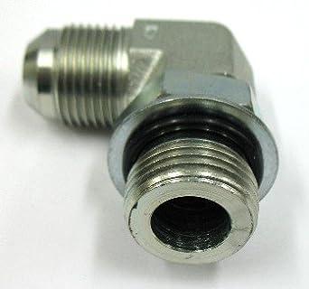 2 Units Brennan Straight Adapter 1 in Male JIC 37/° Flare x 1-1//2 in Male O-Ring Boss Steel