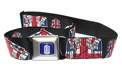 Doctor Who British Flag Tardis Adjustable Web Seatbelt Belt w/ Buckle (Uk Belt Buckle compare prices)