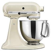 KitchenAid KSM150PSAC Artisan 5-Quart Stand Mixer, Almond Cream