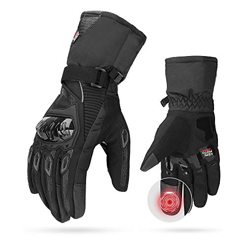 Winter Motorradhandschuhe, Motorrad Handschuhe Winter, CE 2KP geprüfte Motorradhandschuhe 2KP Touchscreen Handschuhe…