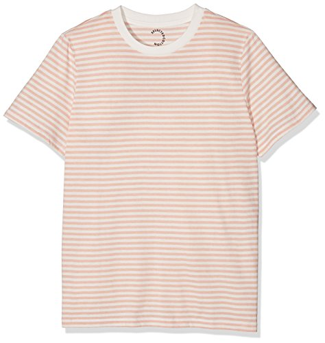 SELECTED FEMME Sfmy Perfect Ss Tee-Box Cut-Stri. Noos, Camiseta para Mujer Rosa (Cameo Rose)