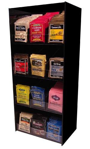 Tea Rack - 12 Flavor Tea Rack Organize 336 Total Packs coffee counter Organizer