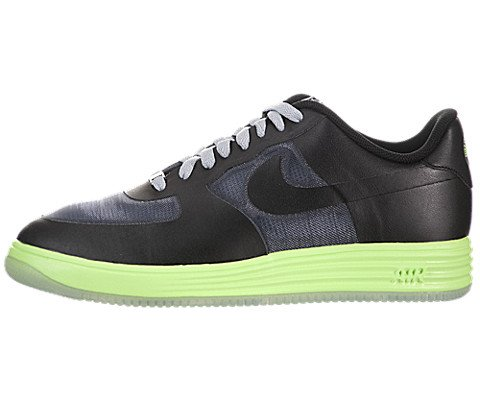 Nike Lunar Force 1 Fuse Leather - Dark Grey / Black-Flash Lime, 13 D US