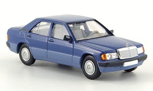 blau Mercedes 190E 1988 Brekina Starmada 1:87 Modellauto Fertigmodell W201