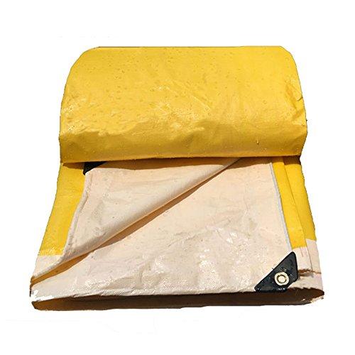 約設定瞳寄付するZEMIN オーニング サンシェード ターポリン 防水 日焼け止め テント シート ルーフ 防風 トラック キャンバス ポリエステル、 黄、 190G/M²、 利用可能な16サイズ (色 : イエロー いえろ゜, サイズ さいず : 4X4M)
