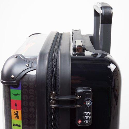 HAUPTSTADTKOFFER - STYLE Hartschalenkoffer Koffer Trolley Reisekoffer Reisegepäck, individuell gestalten, Geschenkidee, Design: Dein Foto Style Merry XMAS Gruen
